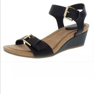 Giani Bernini Womens Bryana Black Wedges Sandals